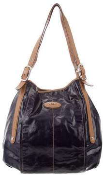 Tod's Leather-Trimmed Coated Bag