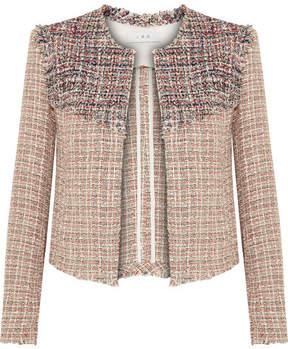 IRO Walefa Frayed Cotton-blend Tweed Jacket - Beige