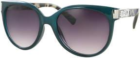 Kay Unger Green Jada Square Sunglasses