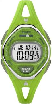 Timex Women's Ironman Sleek 50 Green Watch, Silicone Strap