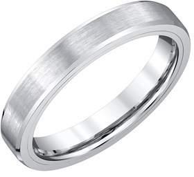 Armani Exchange Jewelry Mens 4mm White Tungsten Wedding Band.