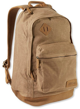 L.L. Bean Classic Teardrop Waxed-Canvas Backpack