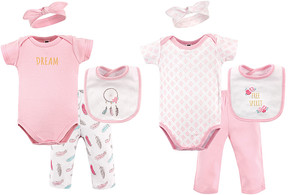 Hudson Baby Pink Dream Catcher Grow with Me Eight-Piece Layette Set - Newborn