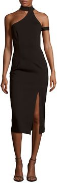 Finders Keepers Solid Asymmetric Dress - Black, Size x-small