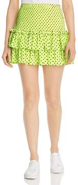 WAYF Phelham Tiered Ruffle Mini Skirt