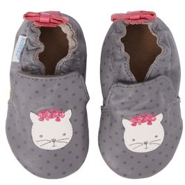 Robeez Infant Girl's Miss Kitty Crib Shoe