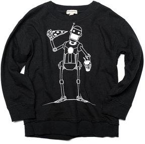 Appaman Highland Glow-in-the-Dark Pizza Robot Sweatshirt, Size 2-10
