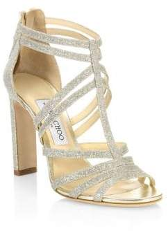 Jimmy Choo Selina Glitter Sandals