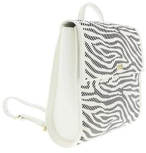 Roberto Cavalli Backpack Audrey 004 White/black Backpack.