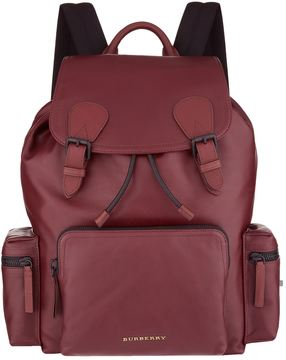 Burberry Leather Flap Front Backpack