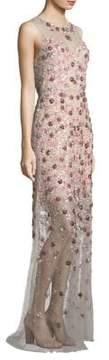 Elie Tahari Augenie Embellished Gown