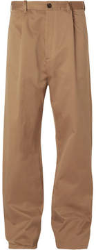 Balenciaga Wide-Leg Cotton-Blend Chinos