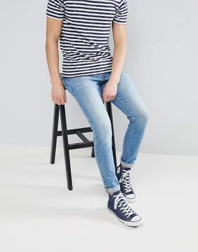 Dr. Denim Clark Shaded Mid Blue Slim Jeans
