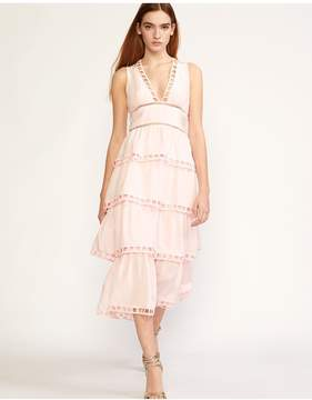 Cynthia Rowley | Postcard Midi Dress | Xl | Pink
