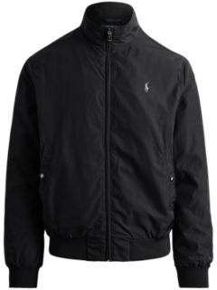 Ralph Lauren Packable Windbreaker Polo Black L