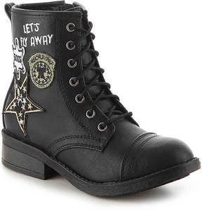 Steve Madden Girls Flyy Youth Combat Boot
