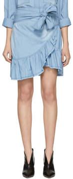 Etoile Isabel Marant Blue Lindy Miniskirt