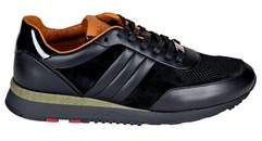 Bally Men's Black Leather Sneakers.