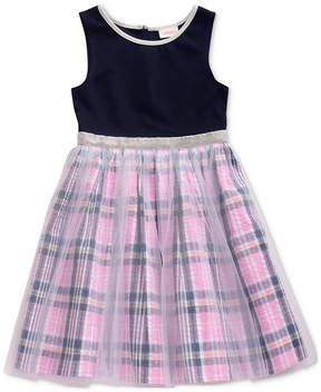 Sweet Heart Rose Toddler Girls Glitter Mesh Dress