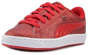 Puma Basket Holiday Glitz Youth US 4 Red Sneakers