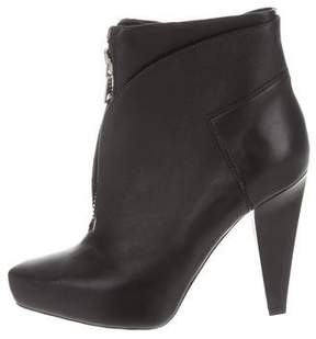 Proenza Schouler Leather Zip-Up Ankle Boots