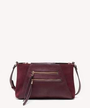 Sole Society Chele Convertible Crossbody Genuine Suede Mix Crossbody