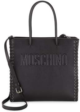 Moschino Women's Stitched Leather Tote