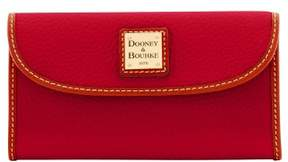 Dooney & Bourke Pebble Grain Continental Clutch Wallet - CRANBERRY - STYLE