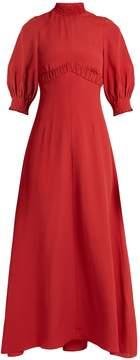 Emilia Wickstead Natasia high-neck crepe dress