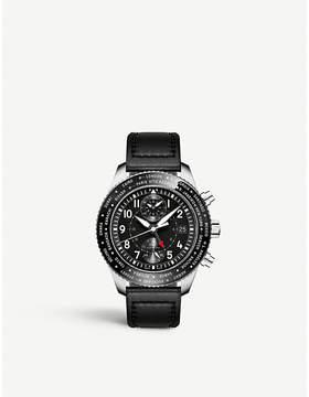 IWC IW395001 pilot timezoner calfskin watch