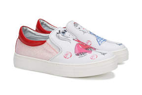 Simonetta girl print slip-on sneakers