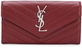 Saint Laurent large monogram flap wallet - RED - STYLE