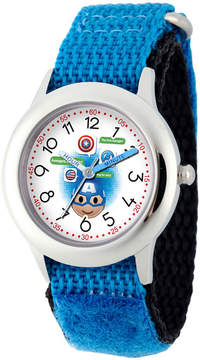 Marvel Emoji Boys Blue Strap Watch-Wma000088
