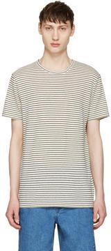 A.P.C. Ecru Striped Paul T-Shirt