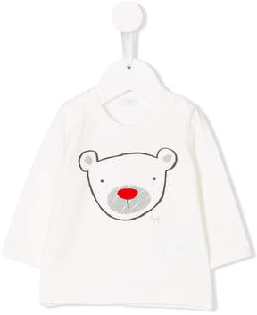 Il Gufo teddy printed top