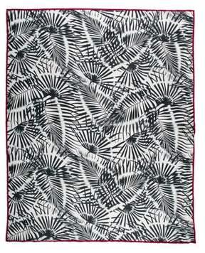 Valentino Woven Palm Print Scarf