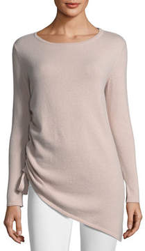 Neiman Marcus Cashmere Side-Drawstring Sweater