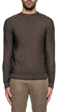 H953 Men's Brown Wool Sweater.