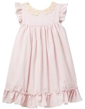 Laura Ashley Ruffled Striped Dress (Toddler & Little Girls)