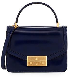 Tory Burch Juliette Mini Patent Top-Handle Bag - IMPERIAL GARNET - STYLE