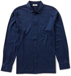 Murano Collezione Mercerized Coatfront Knit Shirt