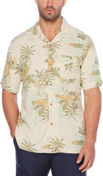 Cubavera Printed Floral Camp Shirt