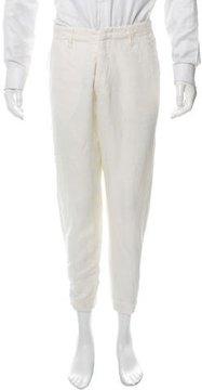 Greg Lauren Flat Front Linen Pants