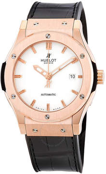 Hublot Classic Fusion White Dial Black Leather Automatic Men's Watch 542OX2610LR