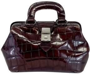 DKNY Auburn Reptile Leather Handbag