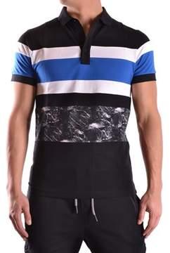 Les Hommes Men's Multicolor Cotton Polo Shirt.