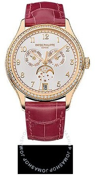 Patek Philippe Complications Silvery Sunburst Dial 18K Rose Gold Automatic Ladies Watch
