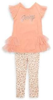 Juicy Couture Little Girl's Two-Piece Leopard Top and Leggings Set