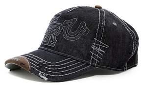 True Religion Denim Raised Logo Baseball Cap