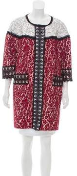 Andrew Gn Lace Colorblock Coat